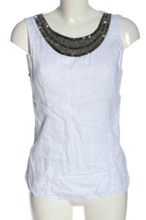 Lina Tomei Blouse en lin blanc style décontracté