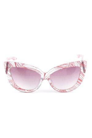 Linda farrow luxe Gafas mariposa magenta look casual