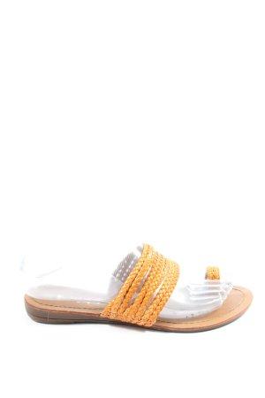 Linda Shoes Sandały japonki jasny pomarańczowy W stylu casual