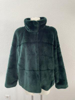 Lindex Fur Jacket dark green