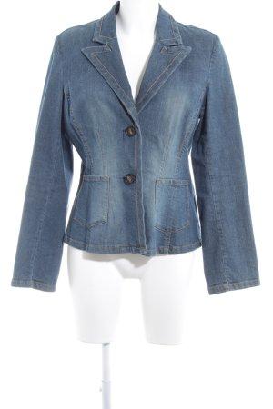 Lindex Jeansjacke graublau-hellgelb schlichter Stil