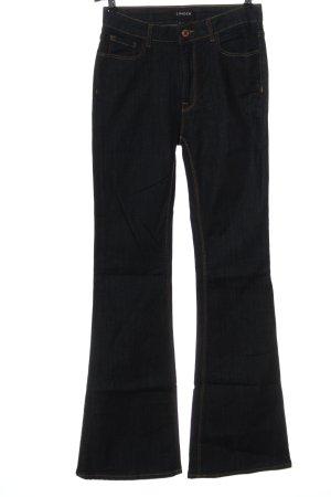 Lindex Jeansowe spodnie dzwony niebieski W stylu casual