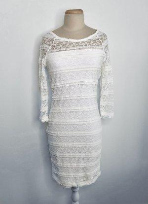 Lindex Robe en dentelle blanc