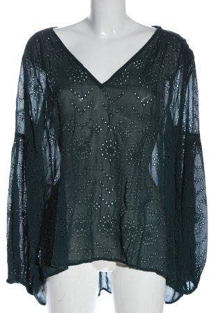 Lindex Camicetta a maniche lunghe nero motivo astratto elegante