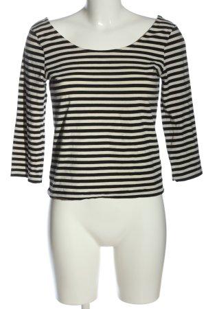 Lindex Maglietta a righe bianco sporco-nero motivo a righe stile casual