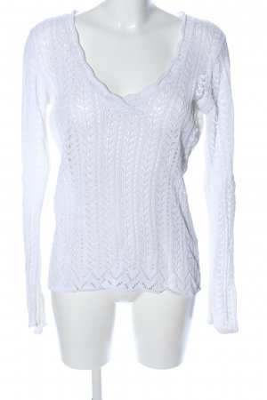 Lindex V-Ausschnitt-Pullover weiß Casual-Look