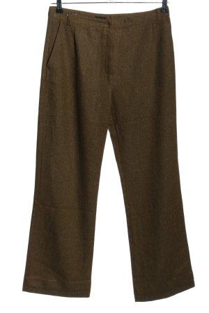 Lindex Pantalon en laine brun moucheté style décontracté