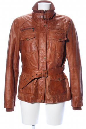 Lindgrön Leather Jacket brown street-fashion look