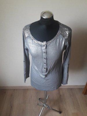 Lindsay Moda Boatneck Shirt silver-colored