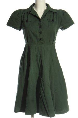 Lindy Bop A-Linien Kleid grün Casual-Look