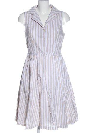 Lindy Bop Sommerkleid weiß-wollweiß Allover-Druck Business-Look