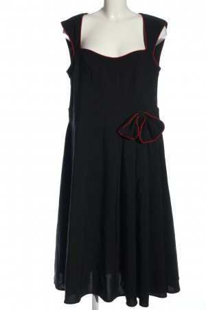 Lindy Bop Trägerkleid schwarz-rot Elegant