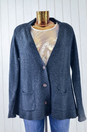 Line of Oslo Coarse Knitted Jacket anthracite wool