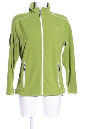 Linea Primero Fleecejacke grün-weiß Casual-Look
