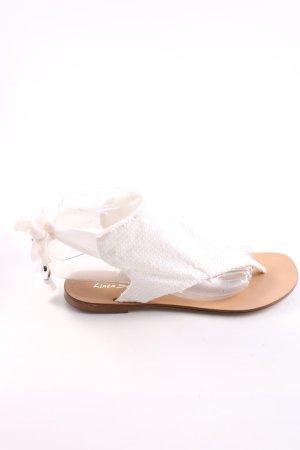 Linea Scarpa Sandały japonki biały W stylu casual