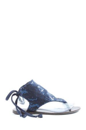 Linea Scarpa Japonki niebieski W stylu casual