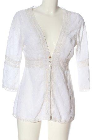 Linea Tesini Chaqueta tipo blusa blanco-blanco puro look casual