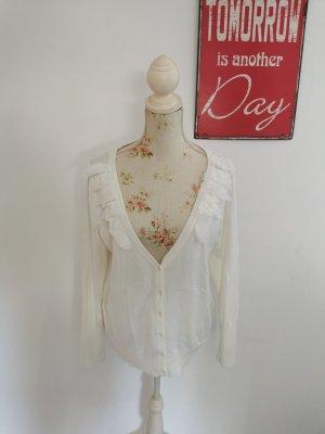Linea Tesini Knitted Cardigan natural white-white viscose