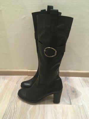 Linea Tesini Heine Stiefel Boot Leder schwarz Gr. 37