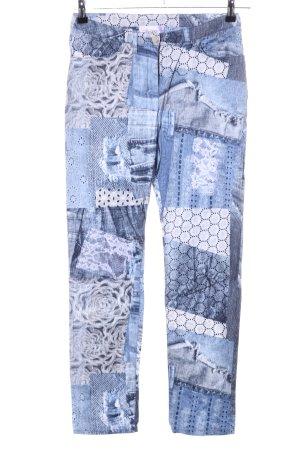 Linea Tesini Jeggings blau-weiß Mustermix Casual-Look