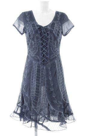 Linea Tesini Kurzarmkleid blau Elegant