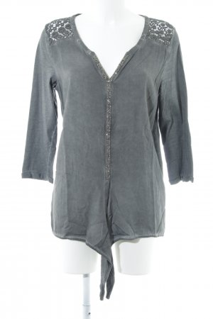 Linea Tesini Langarm-Bluse grau Elegant