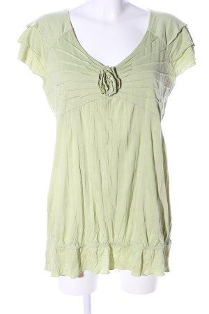 Linea Tesini Longshirt grün Casual-Look