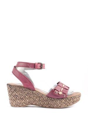 Linea Tesini Sandales à talons hauts et plateforme rose style décontracté