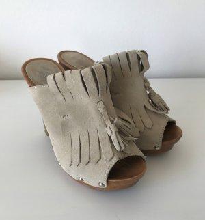Linea Tesini Socque beige clair-beige cuir