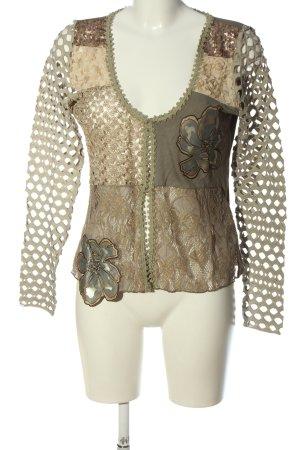 Linea Tesini Shirtjacke khaki-bronzefarben Casual-Look