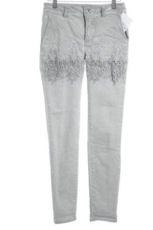Linea Tesini Skinny Jeans hellgrau-grüngrau Washed-Optik