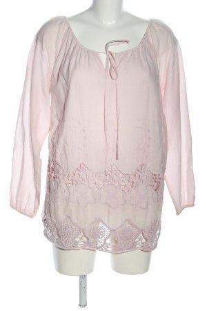 Linea Tesini Spitzenbluse pink Casual-Look