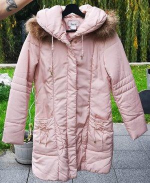 Linea Tesini Cappotto trapuntato rosa pallido