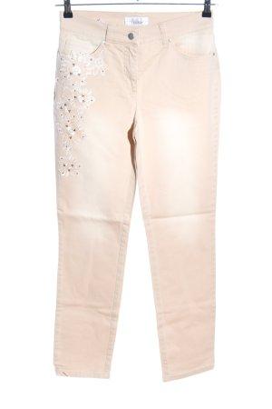 Linea Tesini Straight-Leg Jeans wollweiß Casual-Look