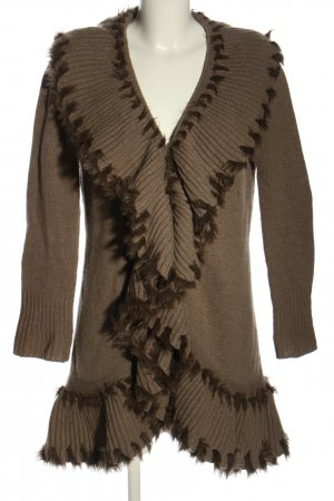 Linea Tesini Knitted Cardigan brown casual look