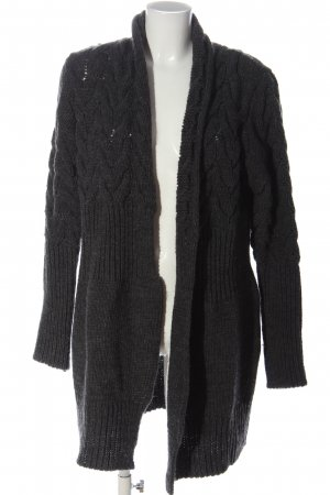 Linea Tesini Knitted Cardigan light grey cable stitch casual look