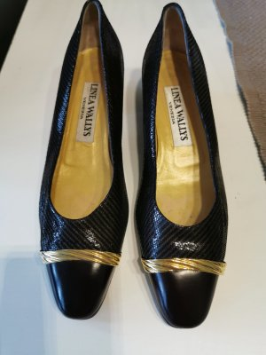 Linea Wally's High-Front Pumps black-gold-colored