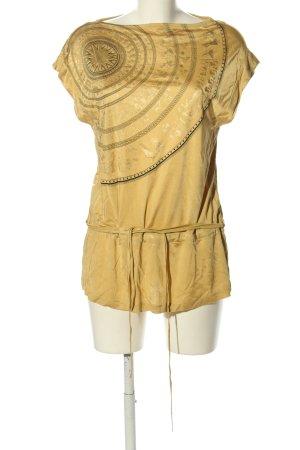 lineight Print-Shirt goldfarben Motivdruck Casual-Look