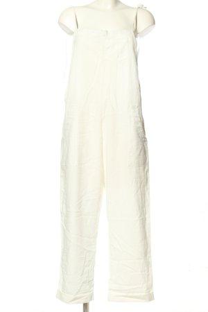 Linen Lux Langer Jumpsuit weiß Casual-Look