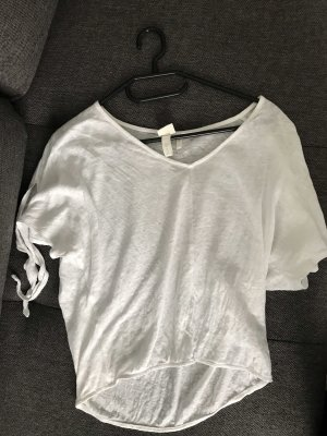 H&M Maglia con scollo a V bianco