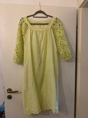 Made in Italy Midi-jurk limoen geel