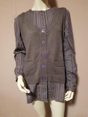 Blancheporte Szydełkowany sweter jasnobrązowy-brązowy