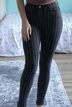 Linnierte High waist Skinny Jeans
