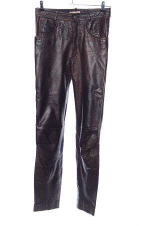 Linus Leather Trousers brown business style