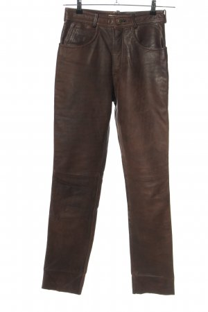 Linus Leather Trousers brown casual look