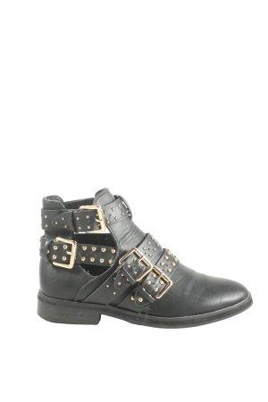 Linzi Ankle Boots schwarz-goldfarben Casual-Look