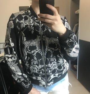 Lion printed satin jacket