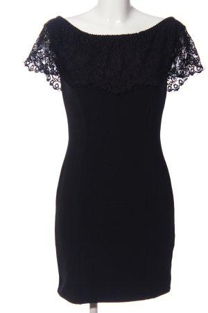 Lipsy Vestido de noche negro tejido mezclado
