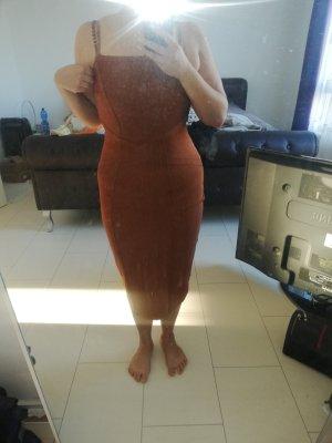Lipsy Bandage Kleid Dress in Braun Gold