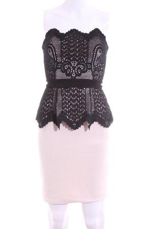 Lipsy Bandeaukleid pink-schwarz Elegant